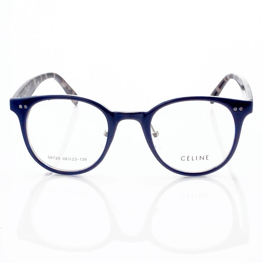 Armação de Óculos Redonda Céline XH58720 Azul