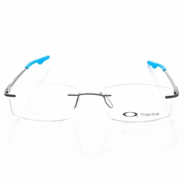Armacao de Óculos Retangular Flutuante Sem Aro Oakley Wingback Azul