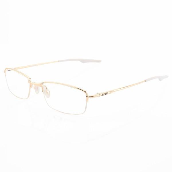Armação de Óculos Retangular Meio Aro Oakley Wingback Gold