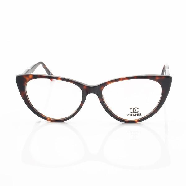Armacao de Óculos Gatinho Chanel CH80512 Sapatinho Marrom Tartaruga