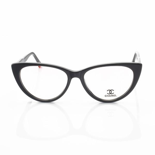 Armacao de Óculos Gatinho Chanel CH80512 Sapatinho Preto