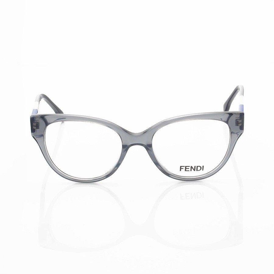 Armação de Óculos Oval Fendi FD3260 Cinza e Azul