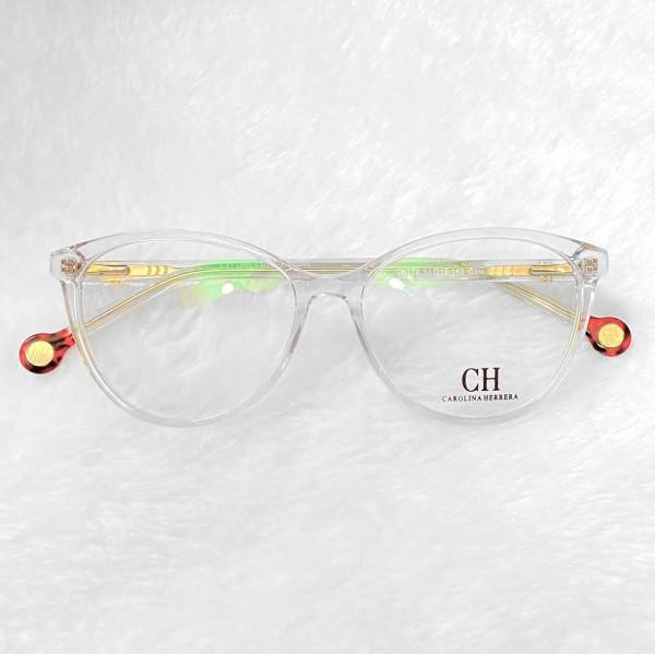 Armacao de Óculos Gatinho Carolina Herrera VHE772 Transparente