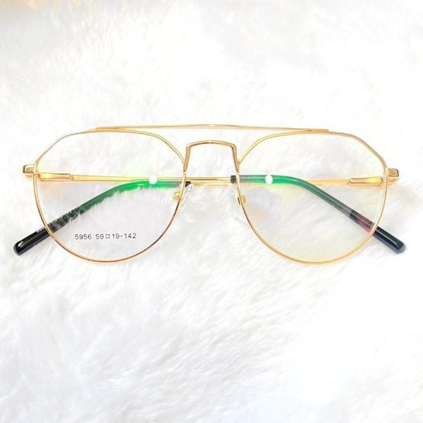 Armacao de Óculos Metal Capitan Unissex 5956 - Dourado