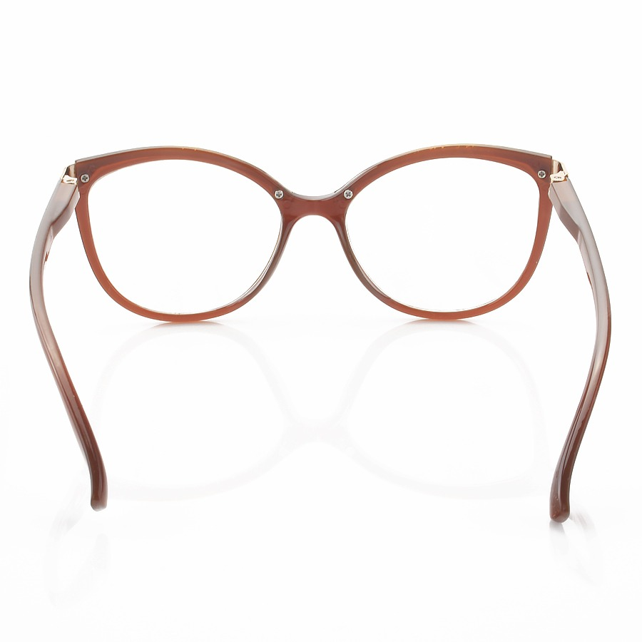 Armacao de Óculos Gatinho Arredondado Lucy 7526 - Marrom