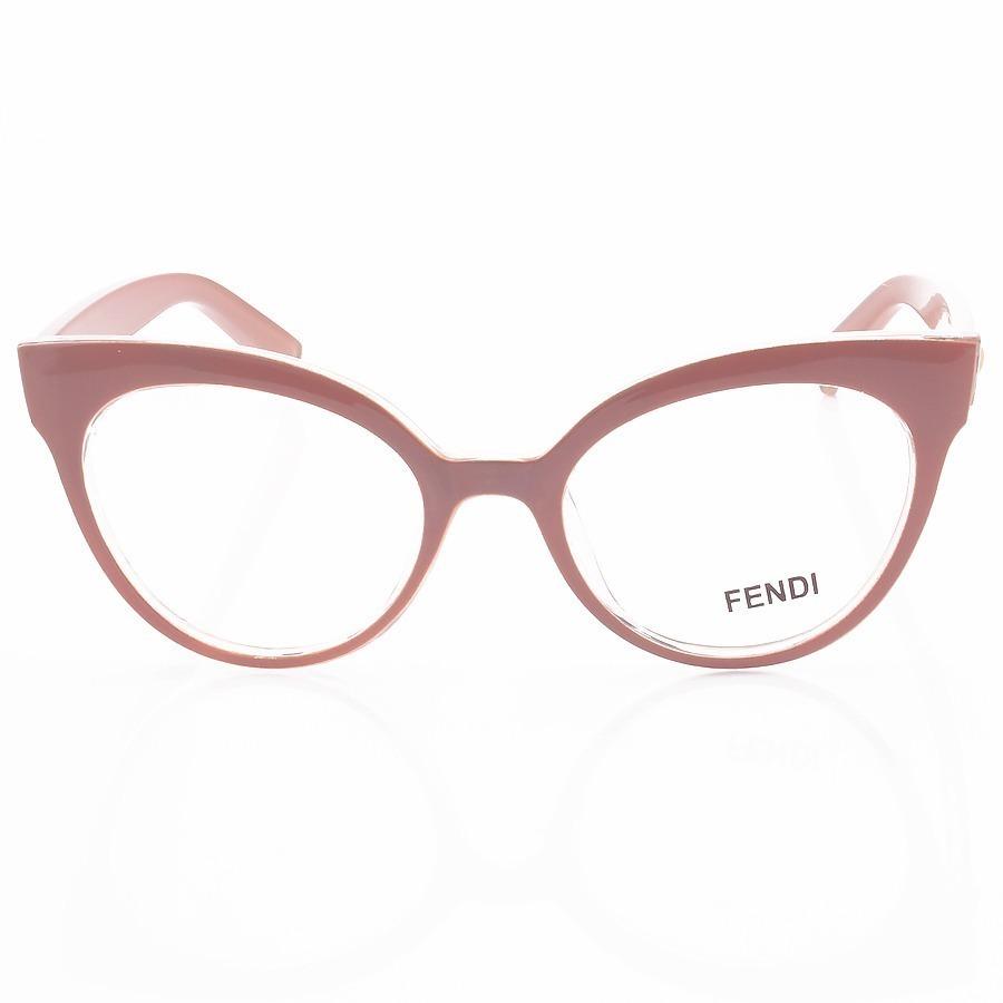 Armacao de Óculos Gatinho Fendi FF2017 Nude Claro