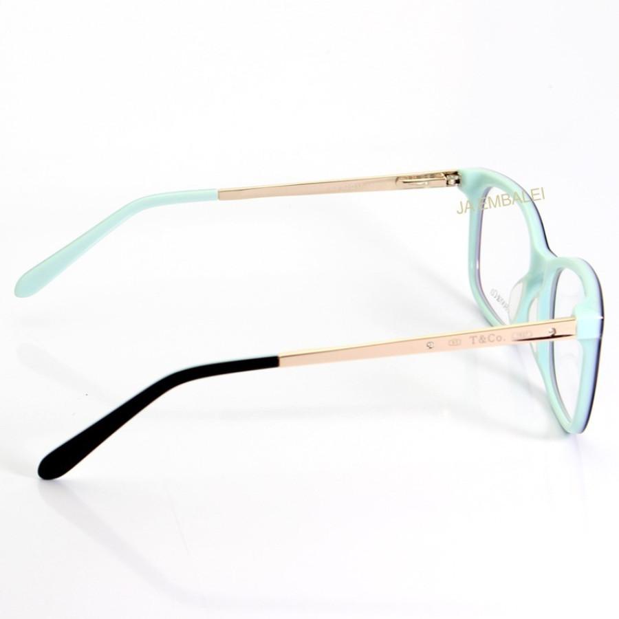 Armação de Óculos Retangular Tiffany & Co TF2131 Preto com Azul