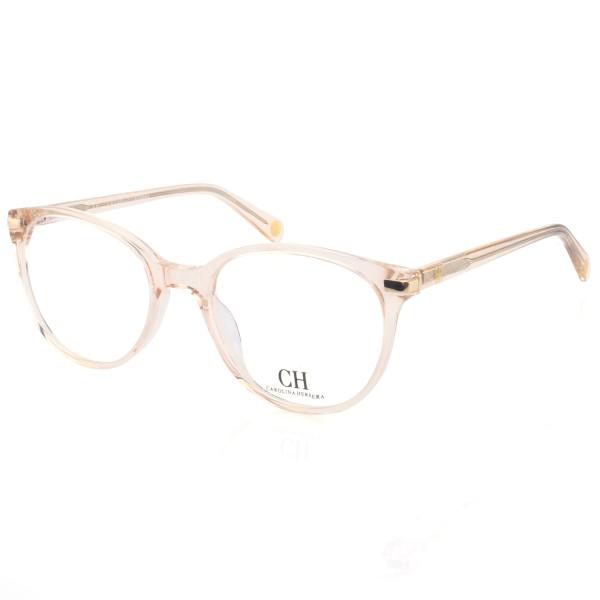 Armação de Óculos Oval Carolina Herrera CH625 Creme Translúcido
