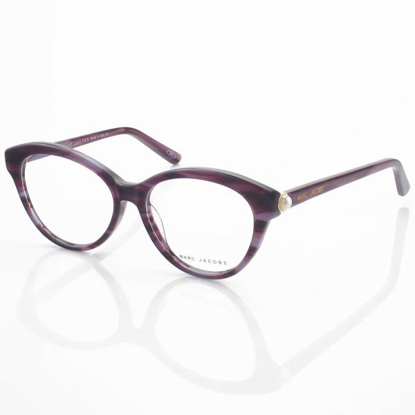 Armação de Oculos Gatinho Marc Jacobs Mj25 Roxo Rajado