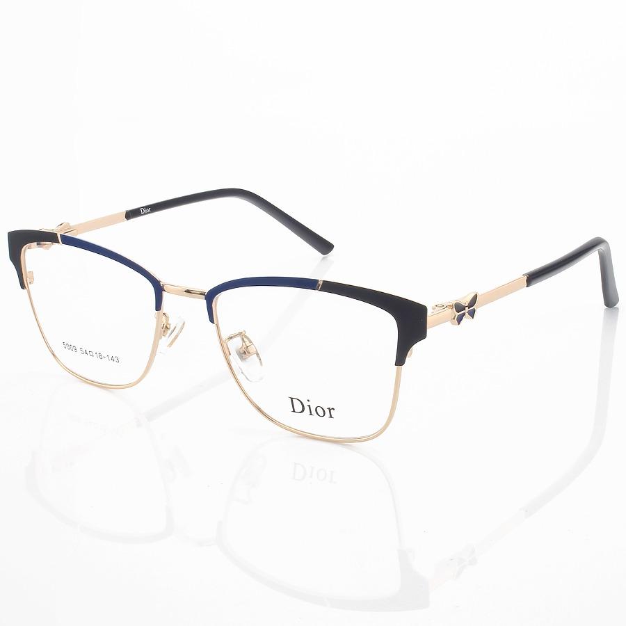 Armação de Óculos Quadrada Dior 5009 Azul e Preto