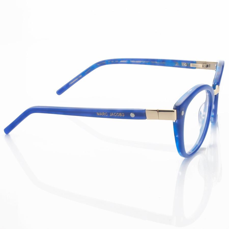 Armação de Oculos Gatinho Marc Jacobs Mj24 Azul