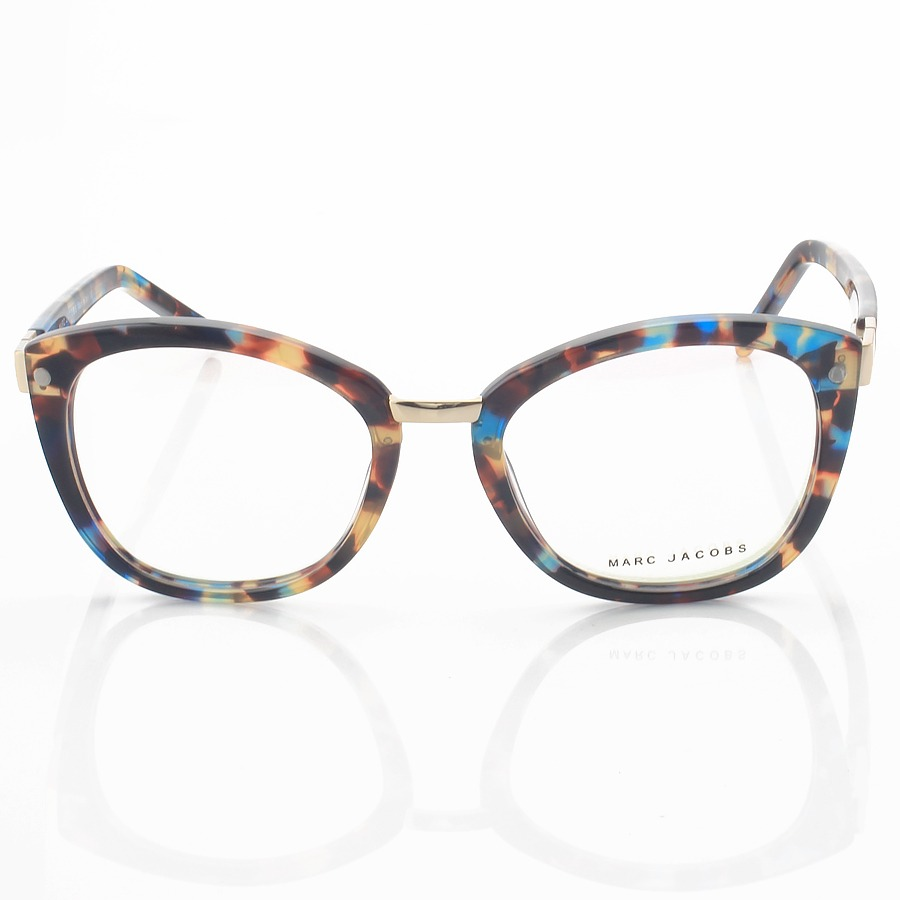 Armação de Oculos Gatinho Marc Jacobs Mj24 Azul Tartaruga