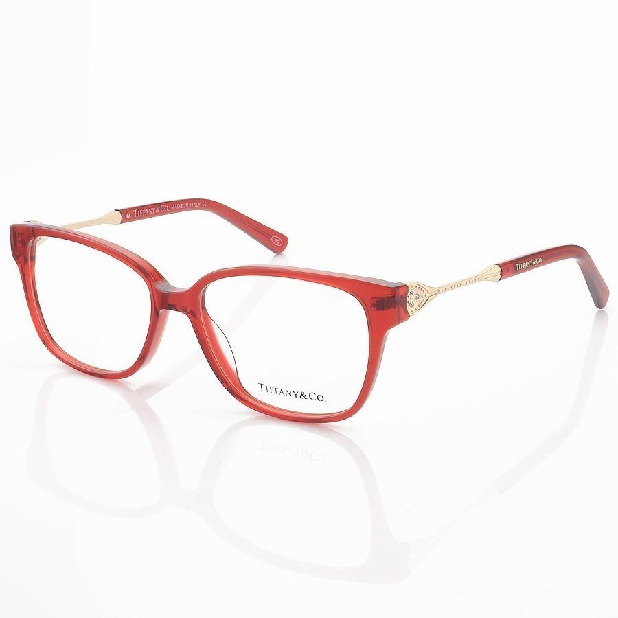Armação de Óculos Retangular Tiffany & Co. TF2324 Vermelho