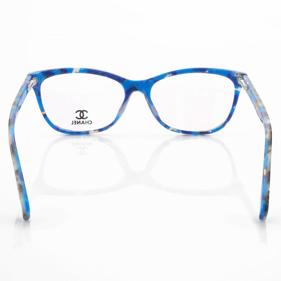 Armação de Óculos Retangular Chanel CH4912 Azul Tartaruga