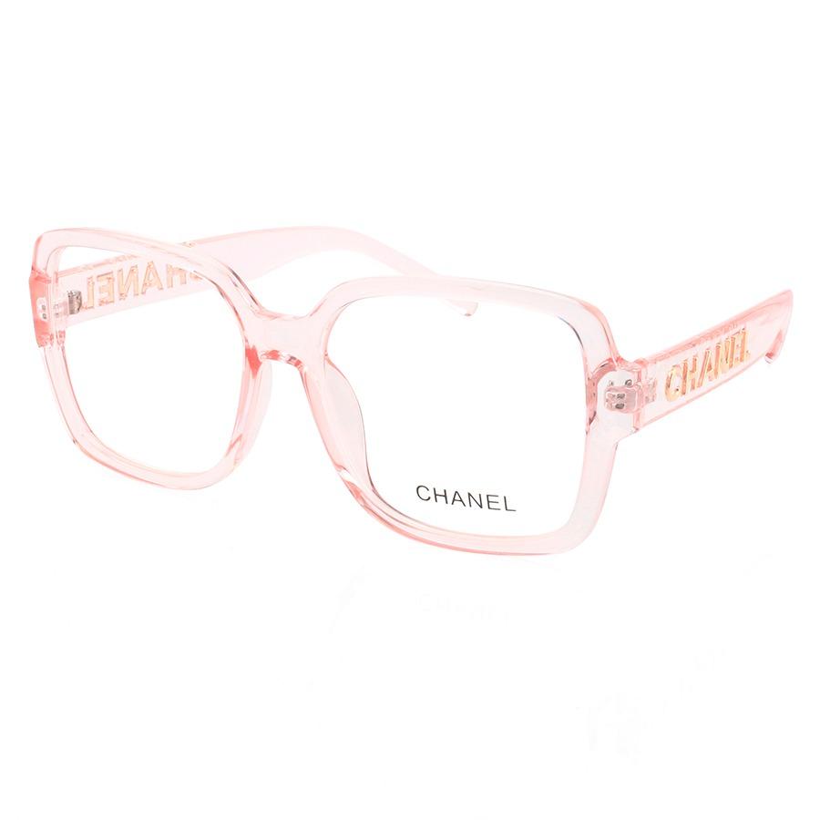 Armação de Óculos Quadrado Chanel CH58782 Rosa Transparente