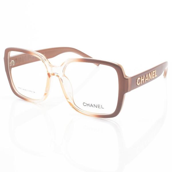 Armação de Óculos Quadrado Chanel CH58782 Nude Degrade