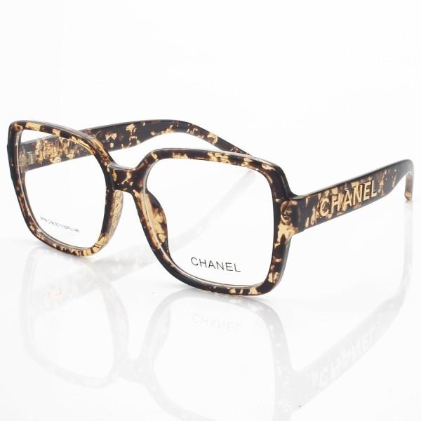 Armação de Óculos Quadrado Chanel CH58782 Tartaruga Claro