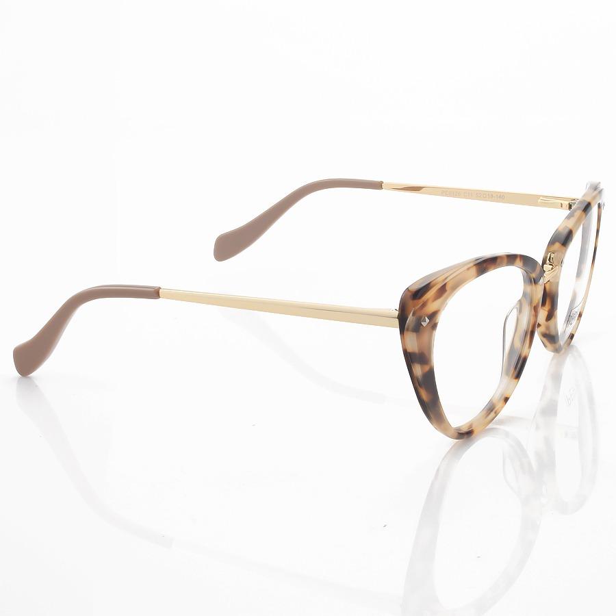 Armação de Óculos Gatinho AH PE6326 Creme Tartaruga