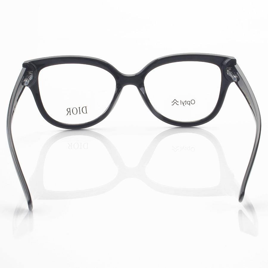 Armação de Óculos Quadrada Dior 2XB Preto