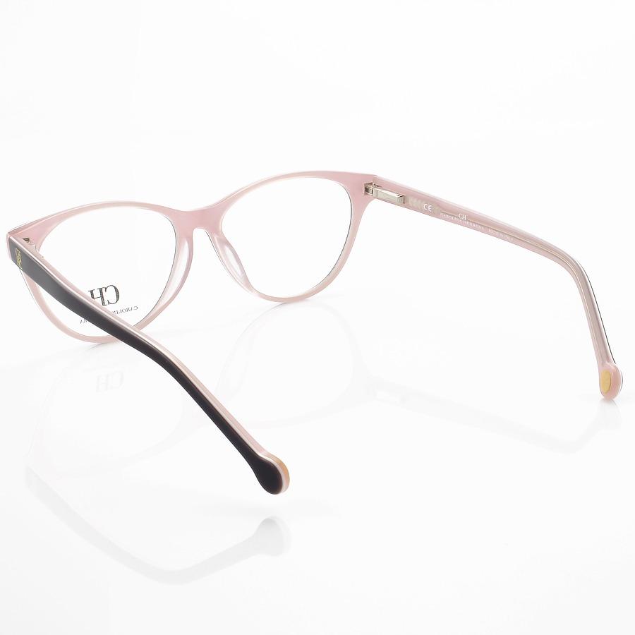 Armação de Óculos Gatinho Carolina Herrera VHE677 Marrom e Rosa