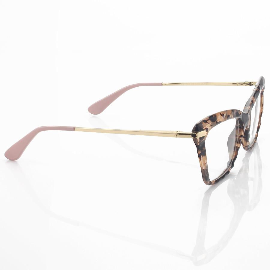 Armação de Óculos Gatinho DG5025 Rosa Tartaruga