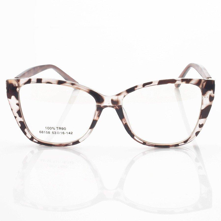 Armação de Óculos Quadrada Leide 68158 Rosa Tartaruga