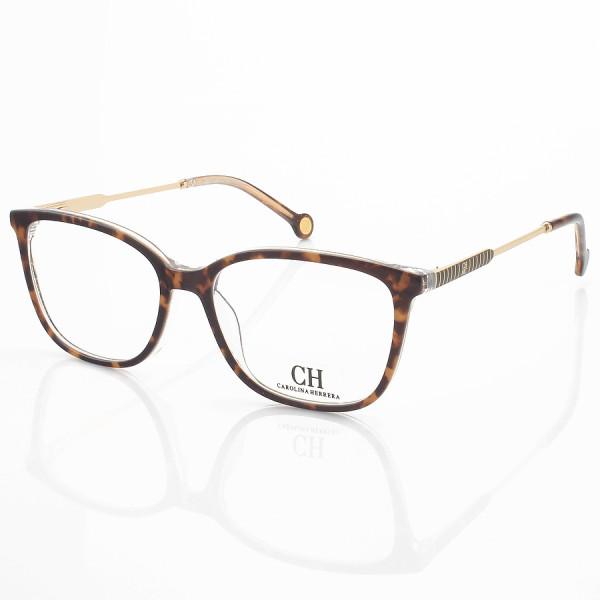 Armação de Óculos Quadrado Carolina Herrera VHE809 Marrom Tartaruga