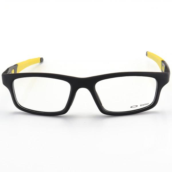 Armação de Óculos Oakley Crosslink OX8037 Preta e Amarela
