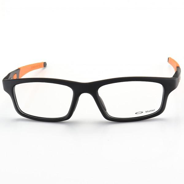 Armação de Óculos Oakley Crosslink OX8037 Preta e Laranja