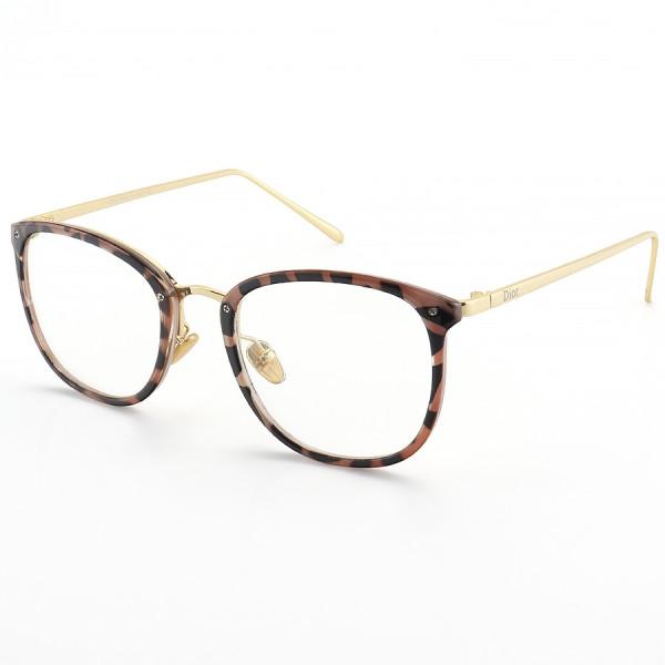 Armação de Óculos Quadrada Dior RM2002-1 CD Rosa Tartaruga