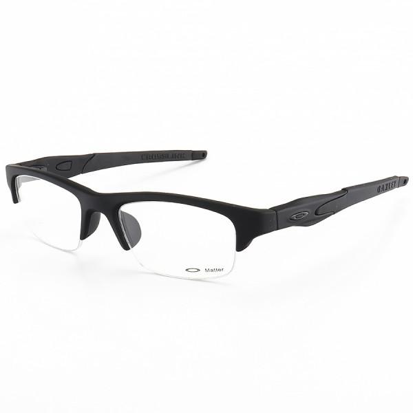 Armacao de Óculos Oakley Crosslink OX8038 Meio Aro Toda Preta