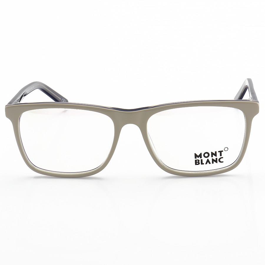 Armação de Óculos Quadrada Masculina Mont Blanc MB0737 Off-White