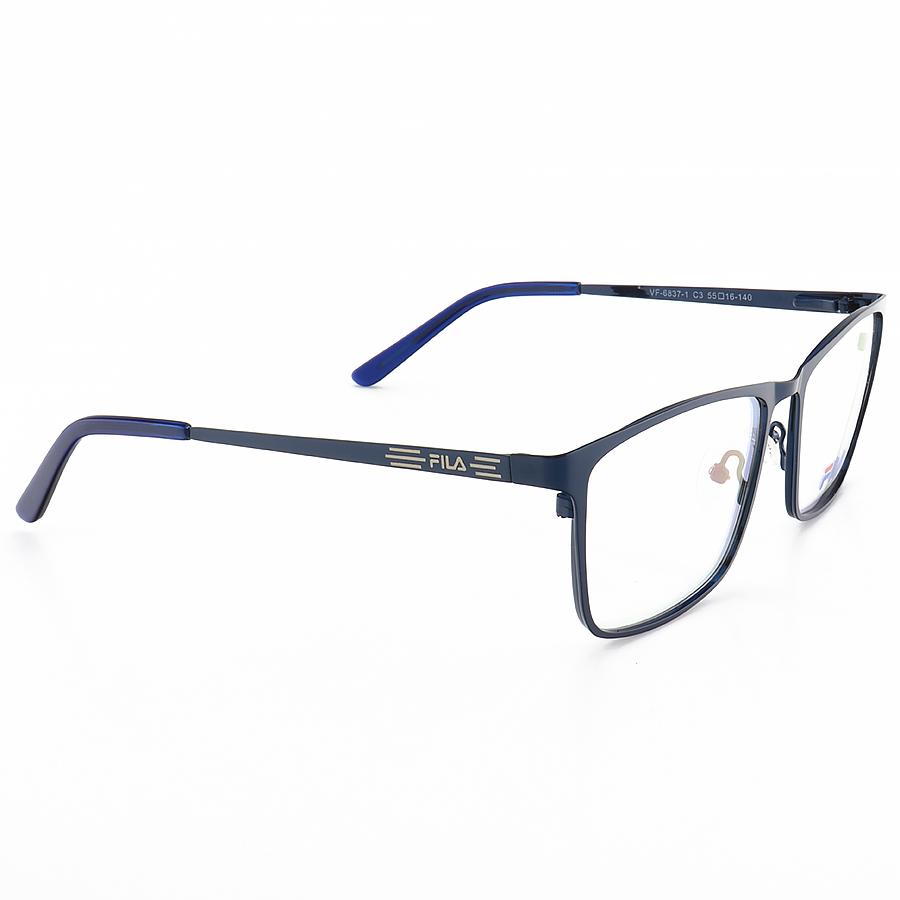 Armação de Óculos Retangular Masculina Fila VF6837 Azul