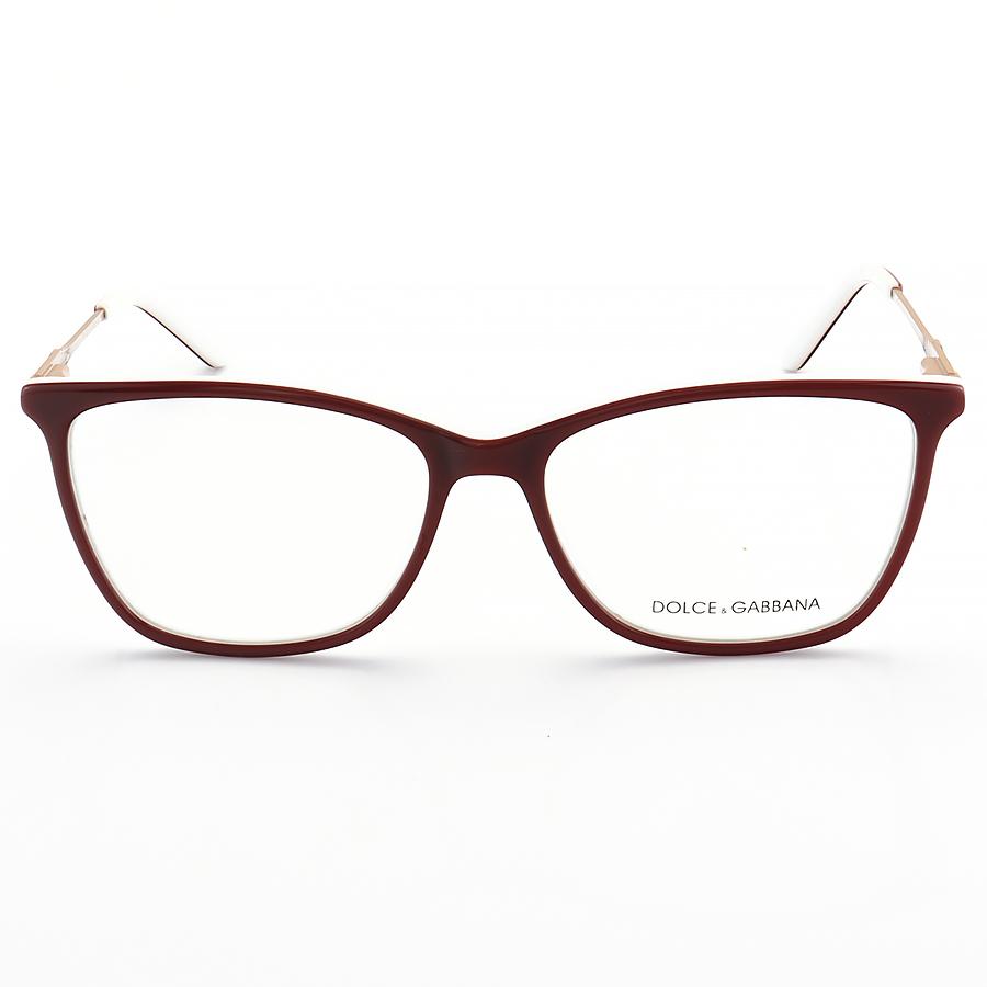 Armação de Óculos Quadrada Dolce & Gabbana DG6108 Vermelho e Branco