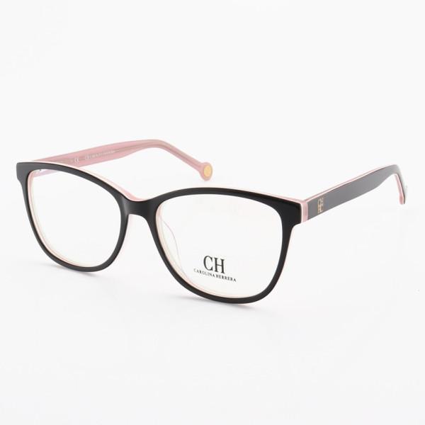 Armação de Óculos Quadrado Carolina Herrera CH717 Preto e Rosa