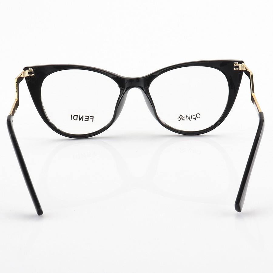 Armação de Óculos Gatinho Fendi FF0119 Preto
