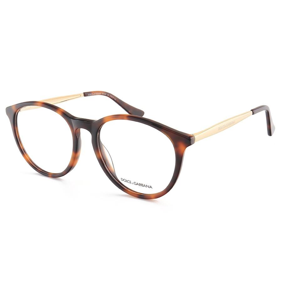 Armação de Óculos Redonda Dolce & Gabbana DG5068 Marrom Tartaruga