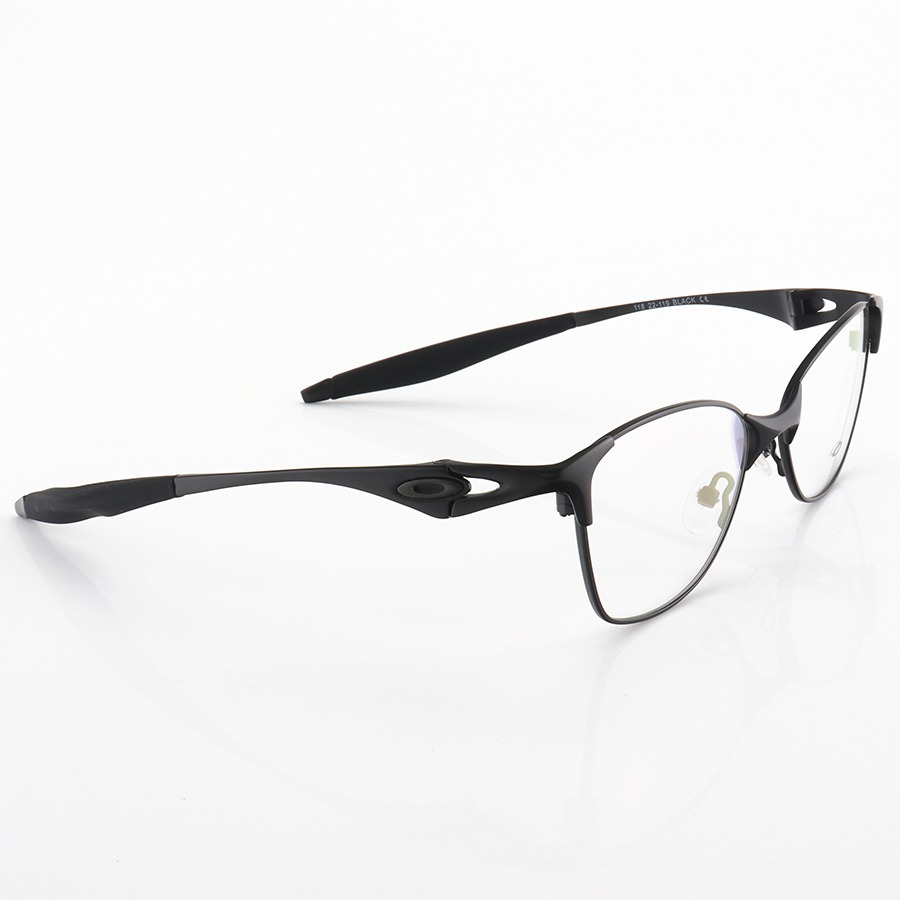 Armação de Óculos Oval Oakley Metal Bracket 8.1 Preto