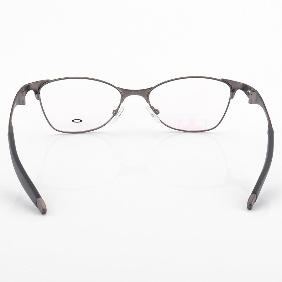 Armação de Óculos Oval Oakley Metal Bracket 8.1 Grafite