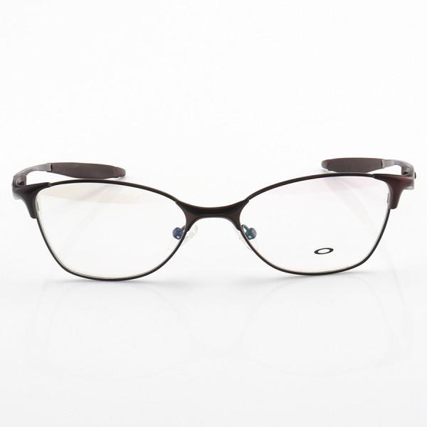 Armação de Óculos Oval Oakley Metal Bracket 8.1 Marrom