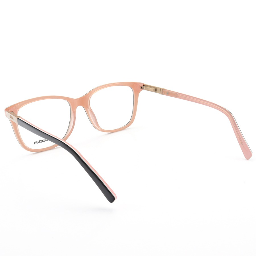 Armação de Óculos Quadrada Dolce & Gabbana DG6104 Preto e Rosa