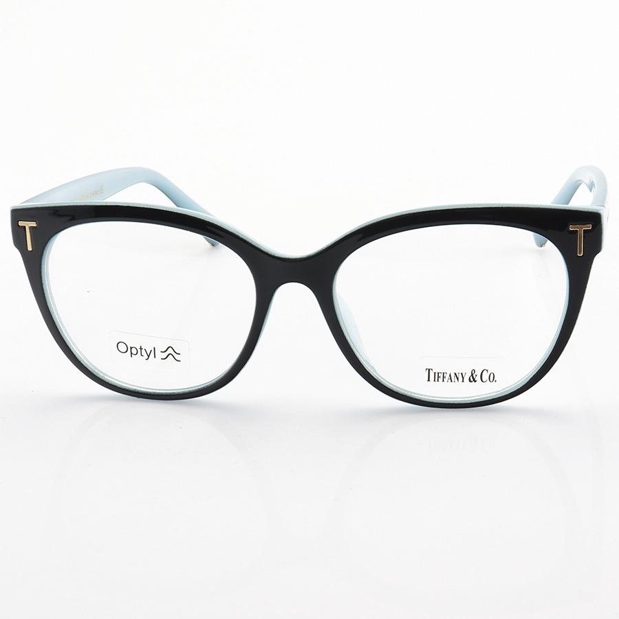 Armação de Óculos Quadrada Tiffany & Co TF2166 Preto e Azul
