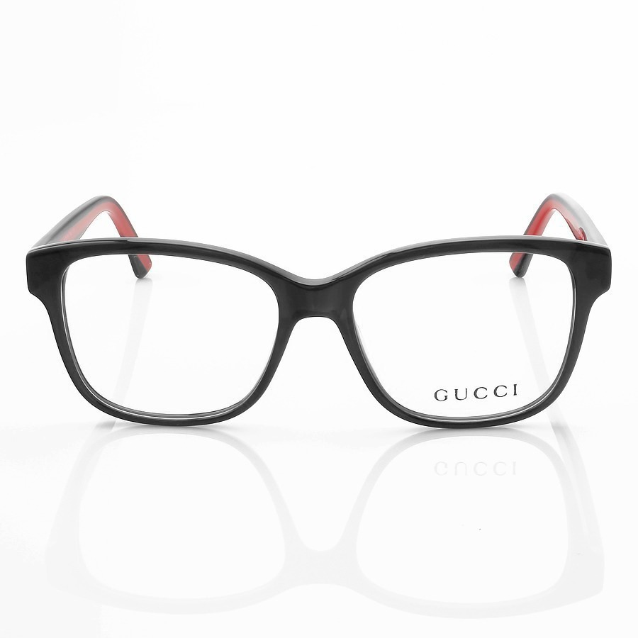 Armacao de Óculos Quadrado Gucci GG0402 Preto