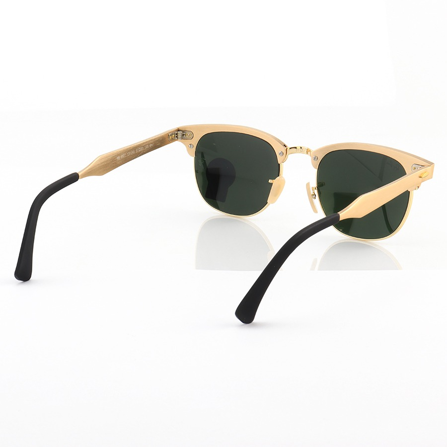 Óculos de Sol Ray-Ban Clubmaster RB3507 Alumínio Dourado e Espelhada