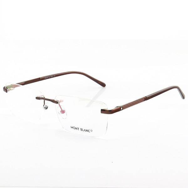 Armação de Óculos Retangular Flutuante Mont Blanc MB0030O Marrom