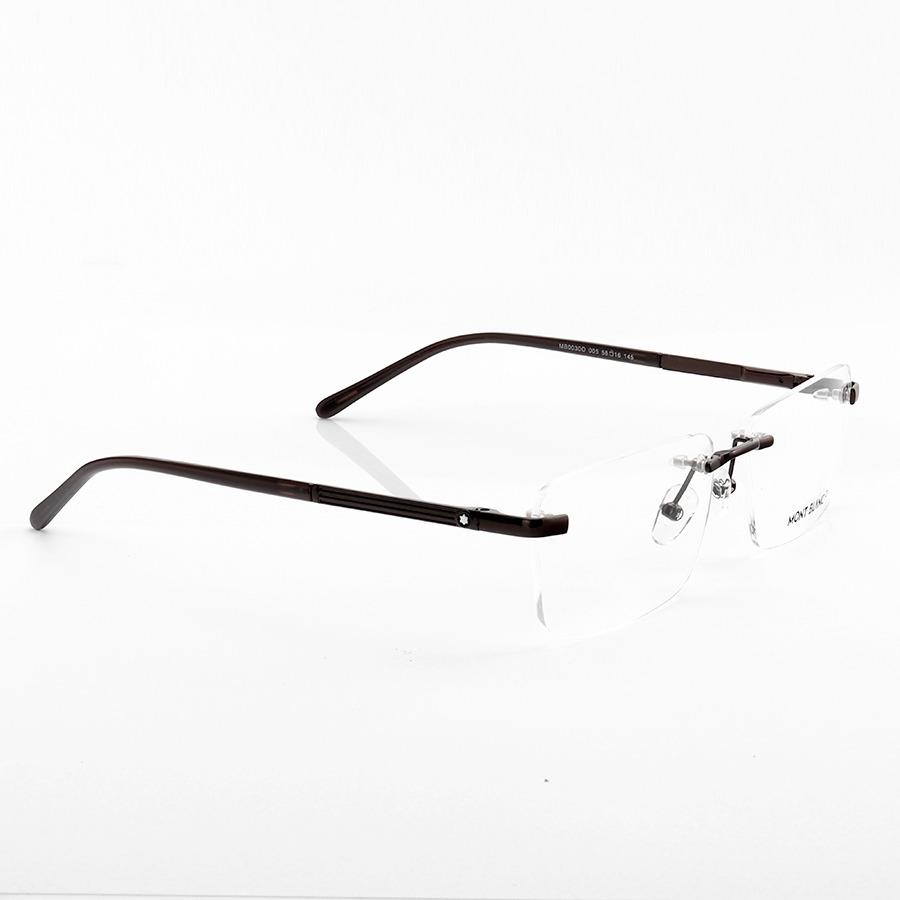Armação de Óculos Retangular Flutuante Mont Blanc MB0030O Preto