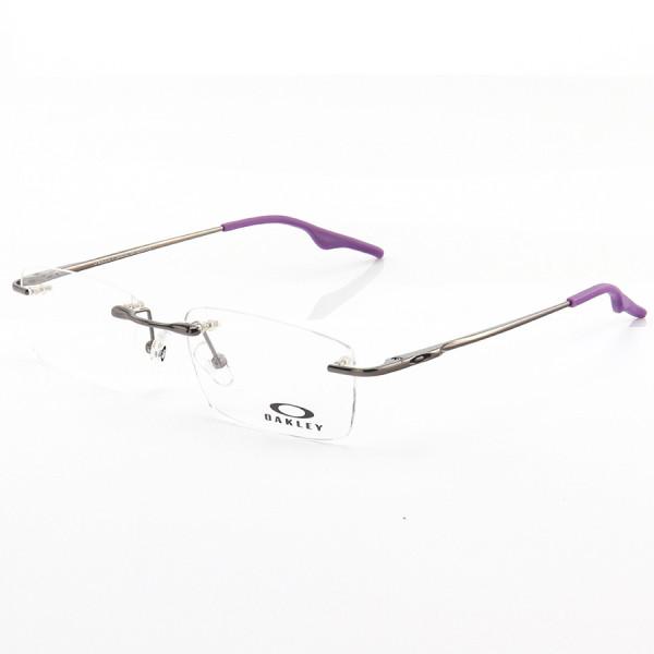 Armação de Óculos Flutuante Sem Aro Oakley Wingback Grafite e Roxo