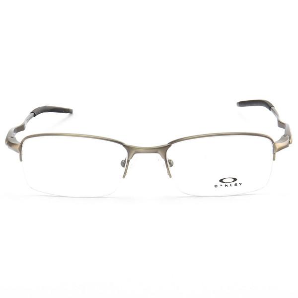 Armação de Óculos Retangular Oakley Meio Aro Evade OX3208 Grafite