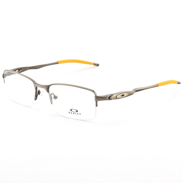 Armação de Óculos Oakley Meio Aro Evade OX3208 Grafite e Amarelo