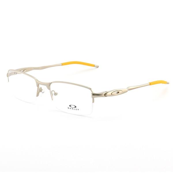 Armação de Óculos Oakley Meio Aro Evade OX3208 Cinza e Amarelo
